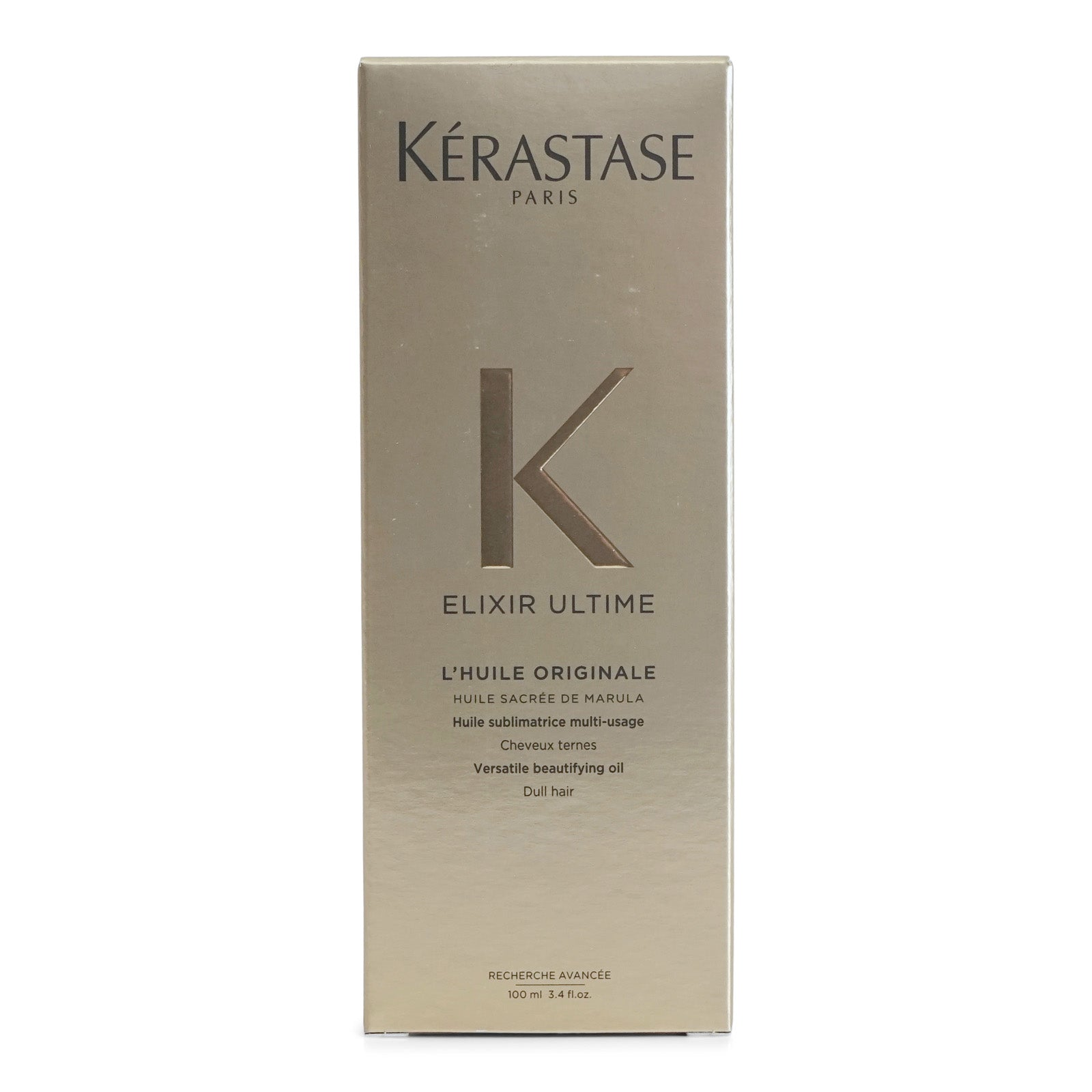 Kerastase Elixir Ultime Lhuile Original Hair Oil, Versatile Beautifying Oil that adds shine and prevents breakage (3.4 oz/100ml) (3/cs)