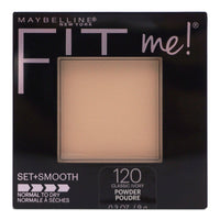 Maybelline Fit Me Set + Smooth Powder Makeup Sets Makeup And Smoothes Skin (0.3oz/9ml) (24/cs)
