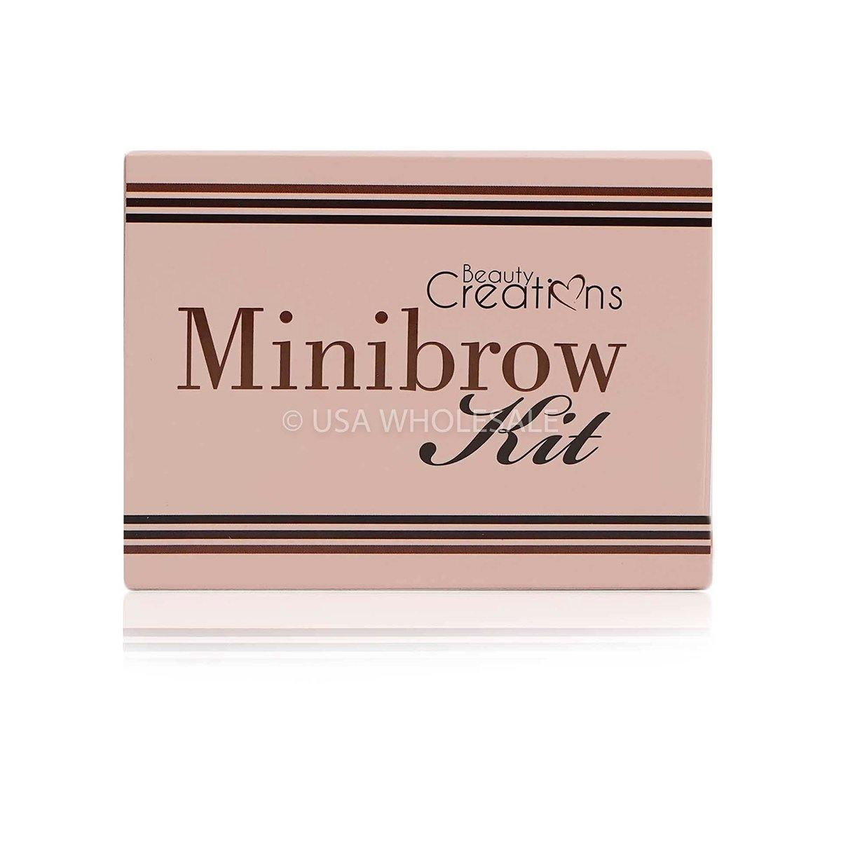 BEAUTY CREATIONS | Minibrow Eyebrow Kit w/ 5 Colors & 3 Tools (Case of 12)