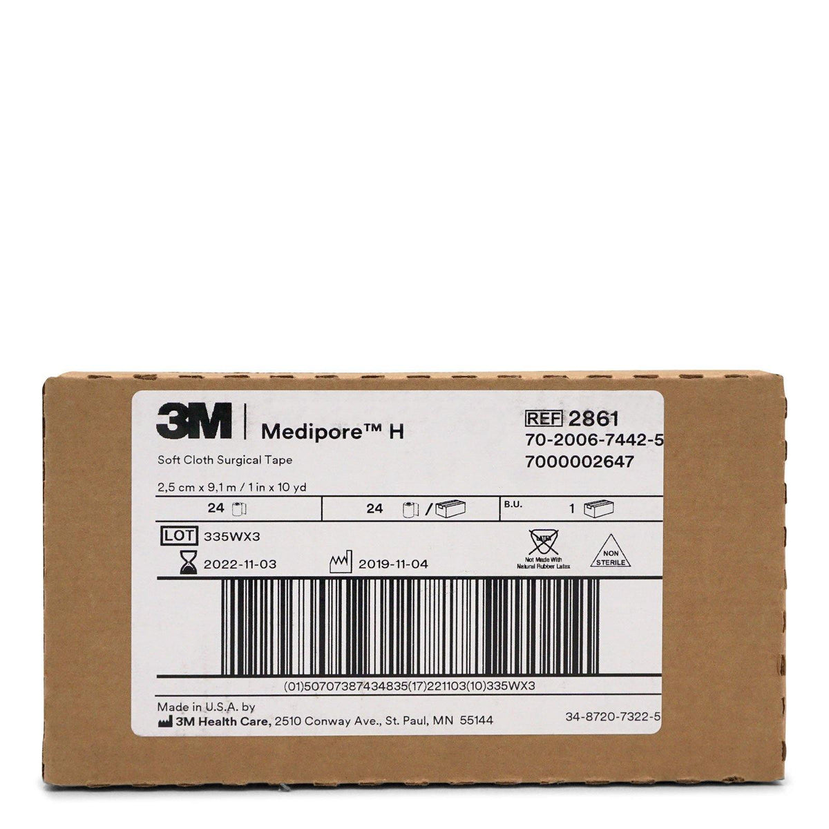 3M Healthcare | Medipore H Soft Cloth Surgical Tape 2'' x 10 Yards  (24/cs)