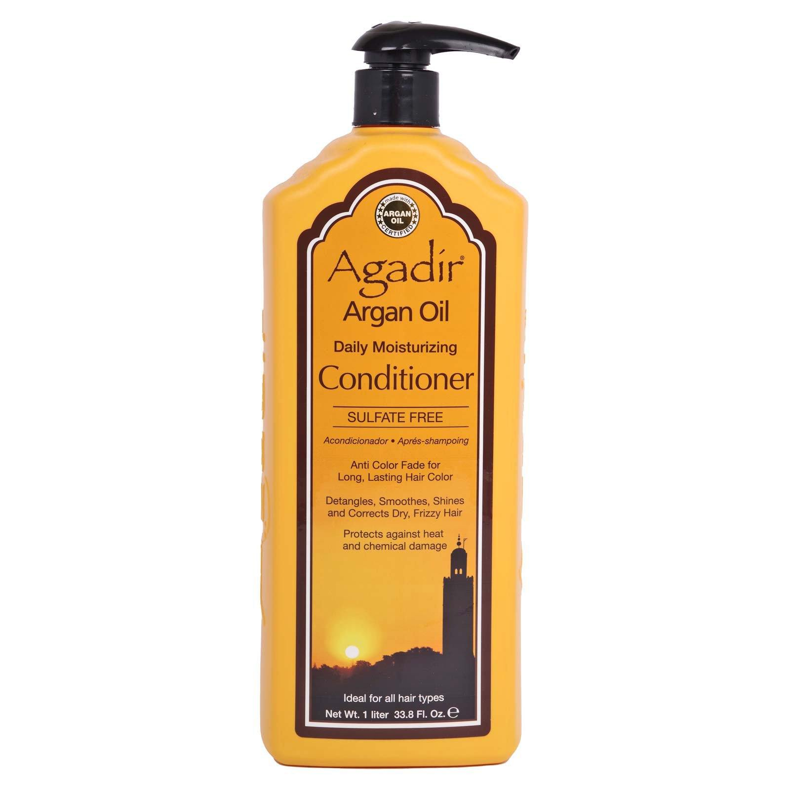 AGADIR ARGAN OIL DAILY MOISTURIZING CONDITIONER, detangles and corrects dry frizzy hair - (33.8oz) (12/cs)