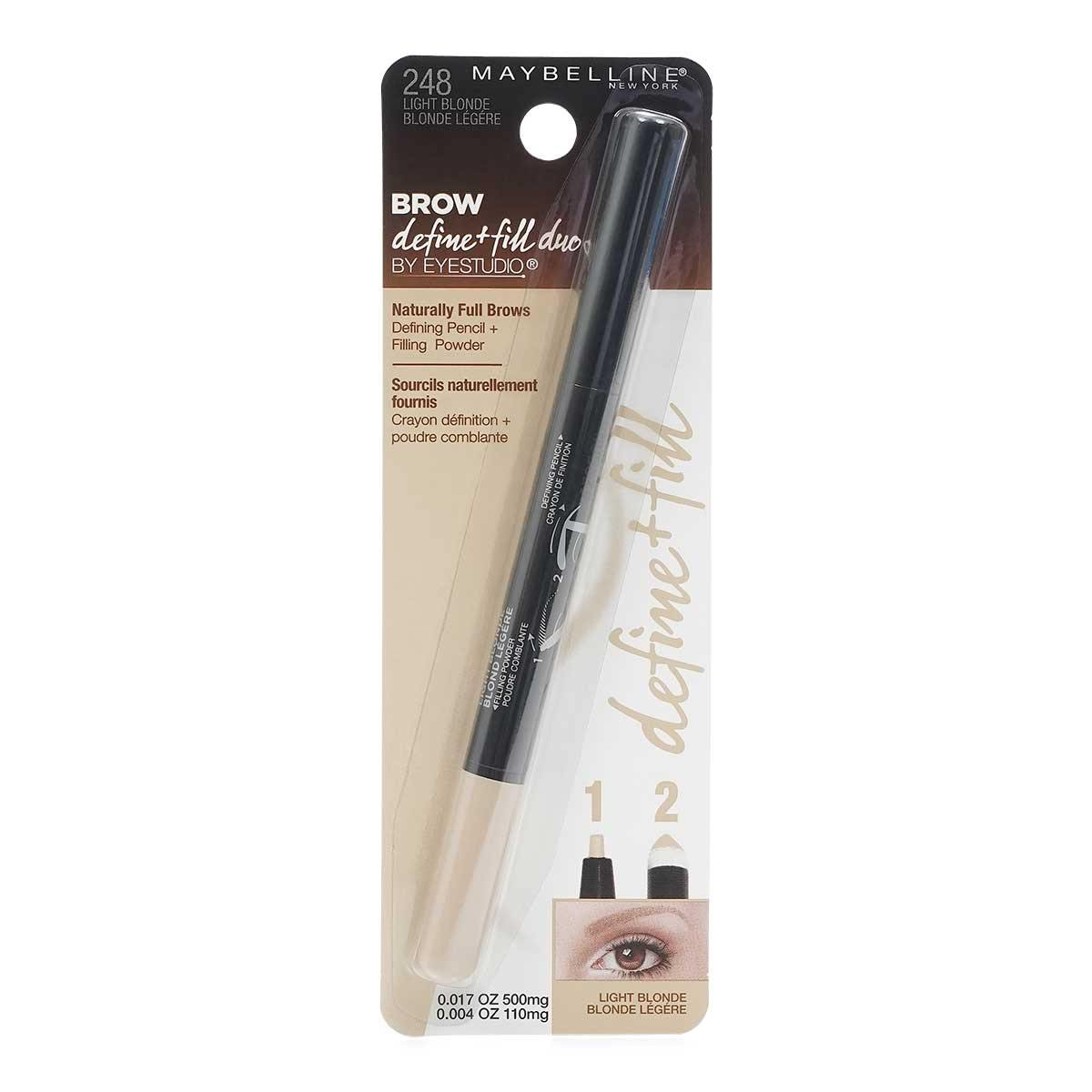 MAYBELLINE DEFINE & FILL DUO PENCIL (24/cs)