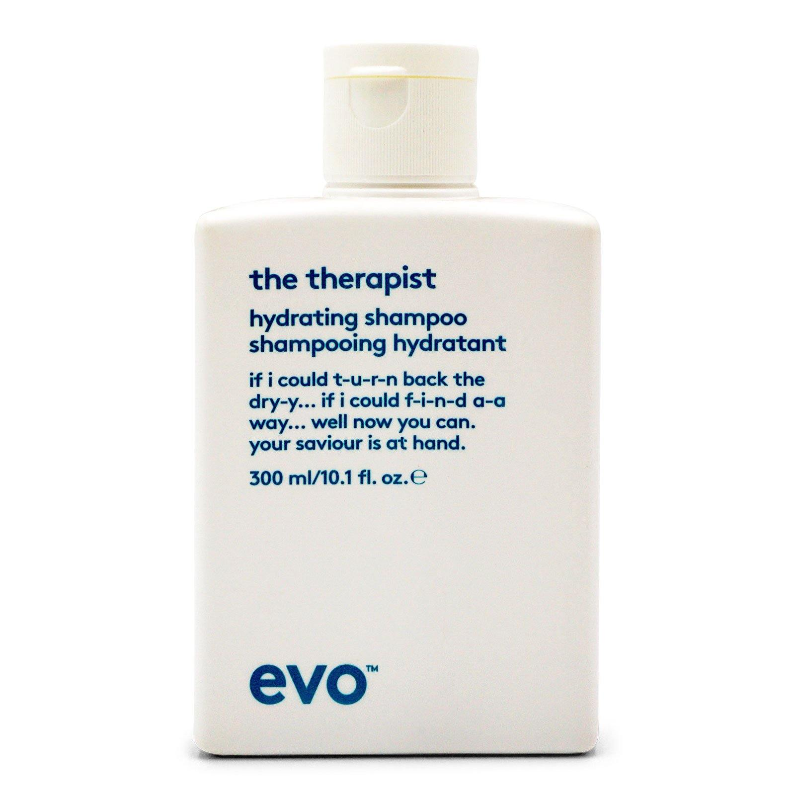 Evo Hair The Therapist Hydrating Shampoo Cleanse, Moisturise And Strengthen Hair - (10.1oz/300ml) (3/cs)