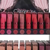 BEAUTY CREATIONS | Matte Lipstick Display Case of 240, w/ 20 shades, 12 ea.