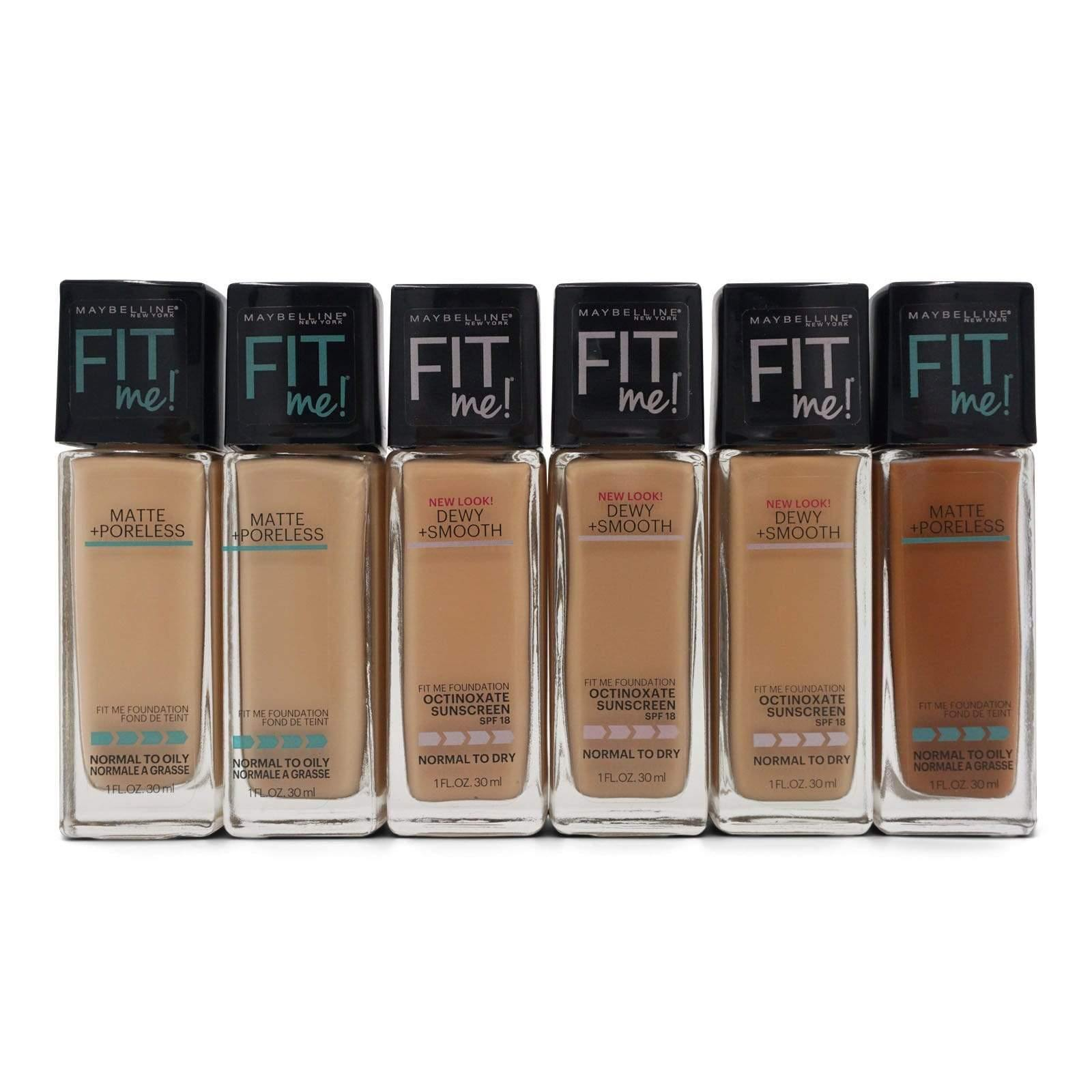 MAYBELLINE | FitMe! Foundation Mixed Makeup Lot (24 Units)