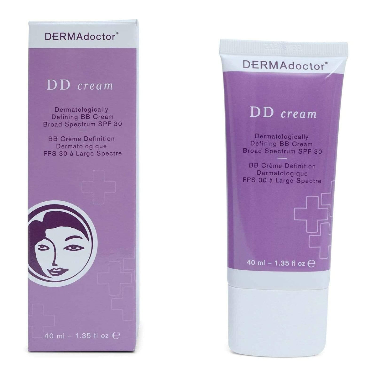 DermaDoctor DD Cream Dermatologically Defining BB Cream Broad Spectrum SPF 30 - Corrective antiaging beauty balm, helps support a healthy complexion.  Has mineral based SPF 30 protects skin from harmful UV rays. (12/cs)