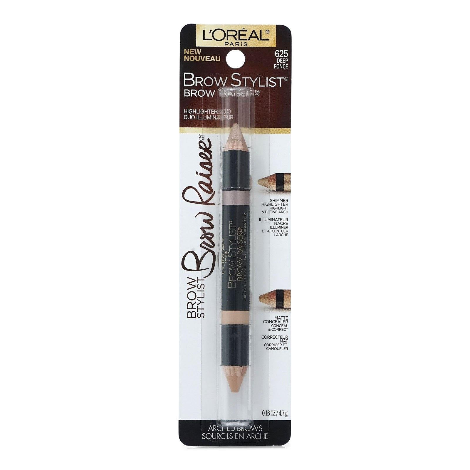 LOREAL BROW STYLIST RAISER HIGHLIGHTER DUO - DEEP # 625 (24/cs)