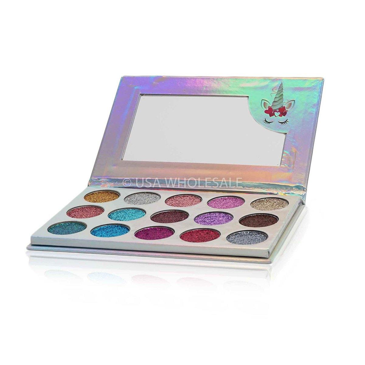 BEAUTY CREATIONS | Unicorn Dream Glitter Eyeshadow Palette (15 Colors X Case of 12)
