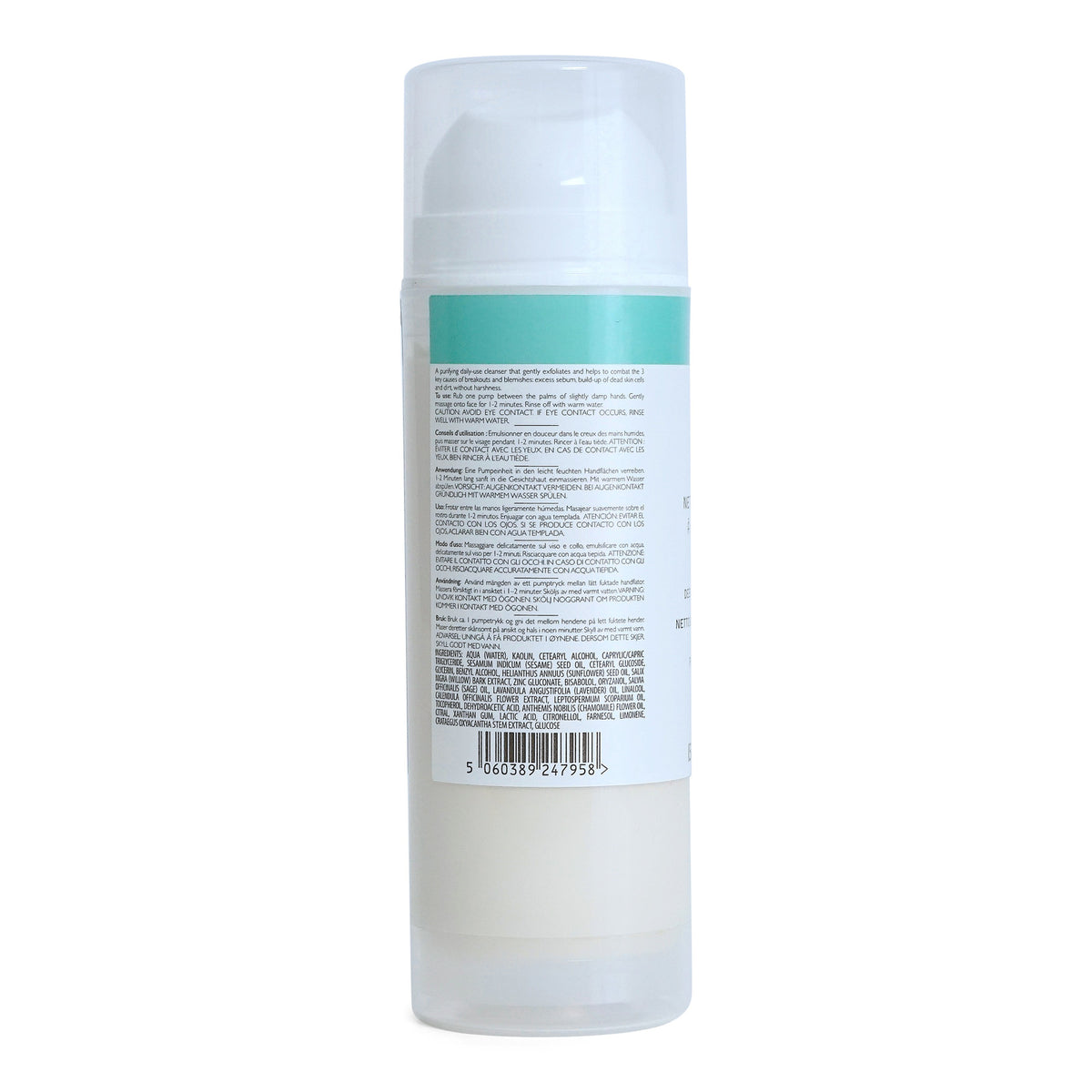 REN Skincare Clear Calm 3 Clarifying Clay Cleanser - minimizes blemishes, pores and redness (150 ml / 5.1 fl. Oz.) (3/cs)