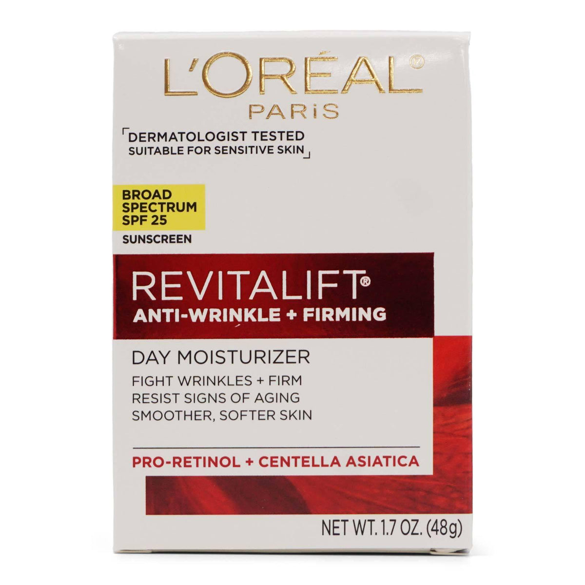 L'Oreal Skin Care Revitalift Face Moisturizer w/ SPF 25 - (1.7oz/48g) (12/cs)