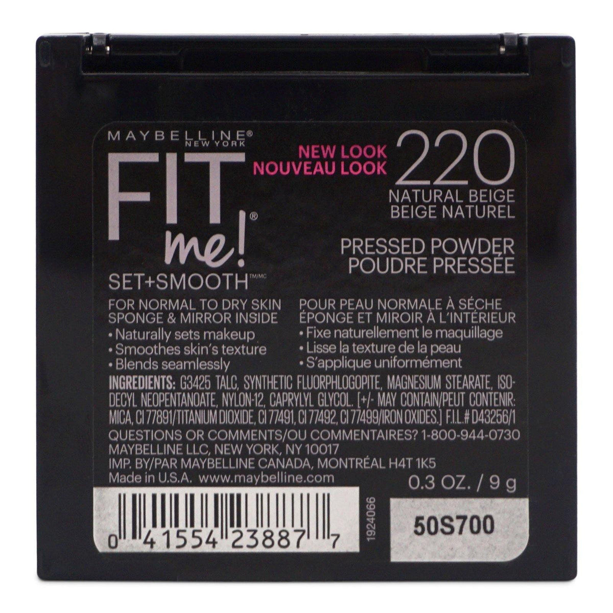 Maybelline Fit Me Set + Smooth Powder  - Natural Beige 220  (24/cs)