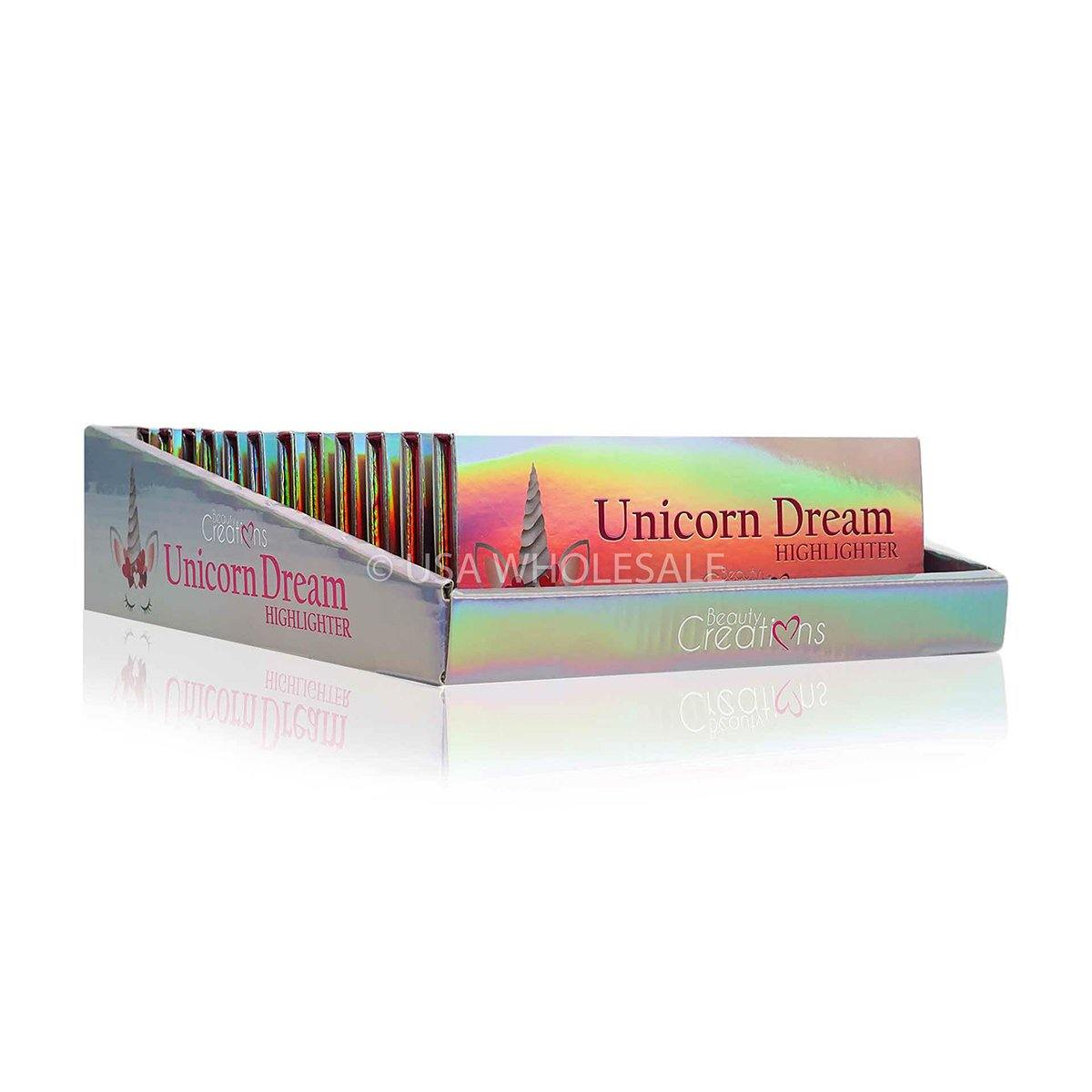 BEAUTY CREATIONS | Unicorn Dream Highlighter Palette ( Case of 12 X 3 Colors)