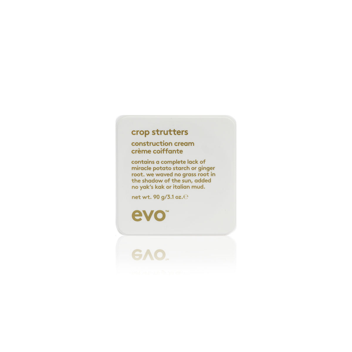 Evo crop strutters construction cream, Improves definition, flexible hold - Case of 3 bottles 90g / 3.1oz (New)