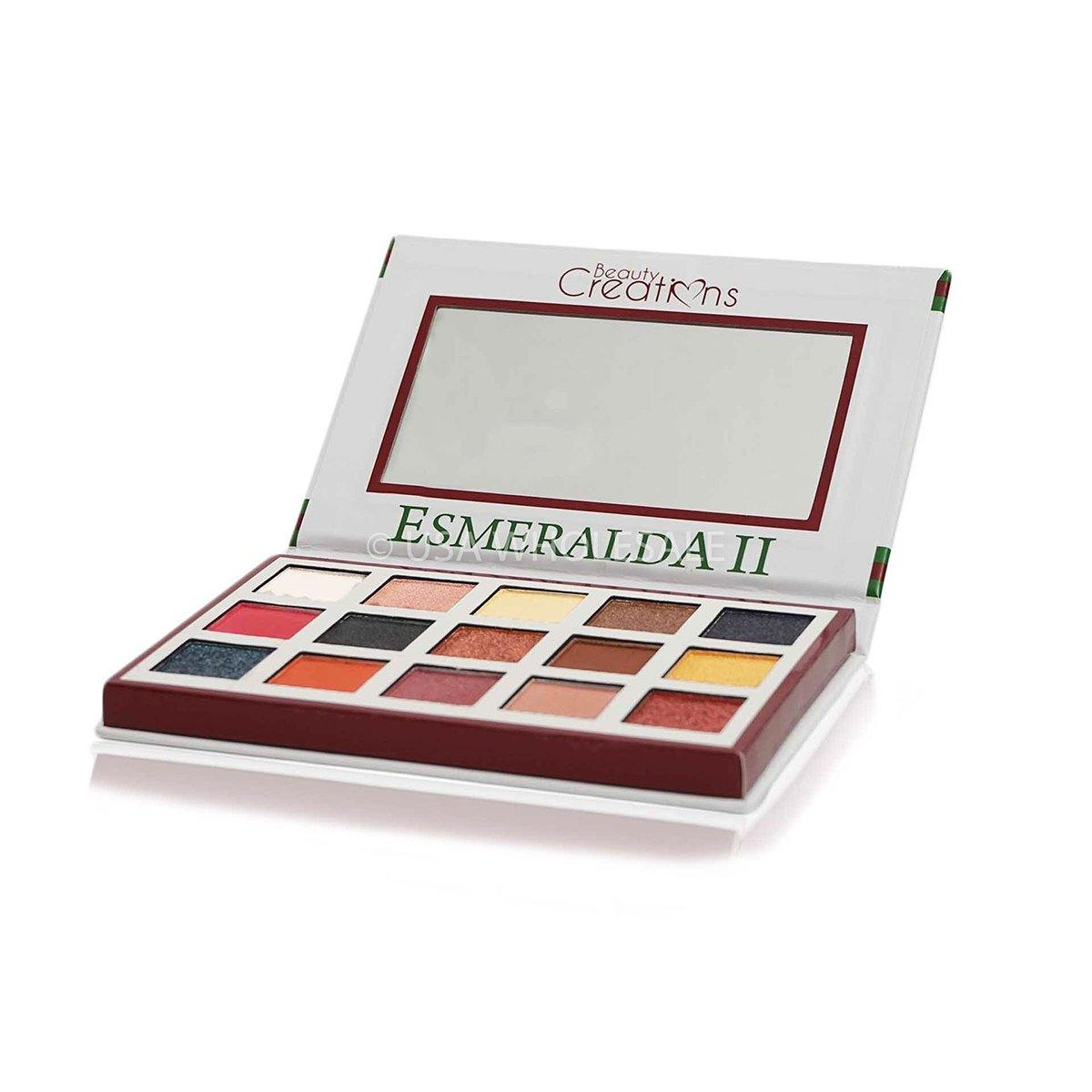 BEAUTY CREATIONS | Esmeralda Collection 2 Eyeshadow Palette (15 Colors X Case of 12)