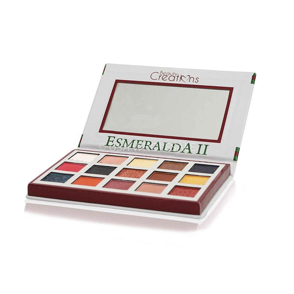 BEAUTY CREATIONS | Paleta de 2 sombras de ojos Esmeralda Collection (15 colores X Caja de 12)