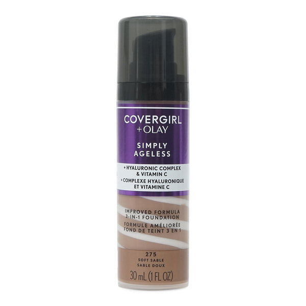 COVERGIRL SIMPLY AGELESS 3in1 FOUND - SOFT SABLE (24/cs)