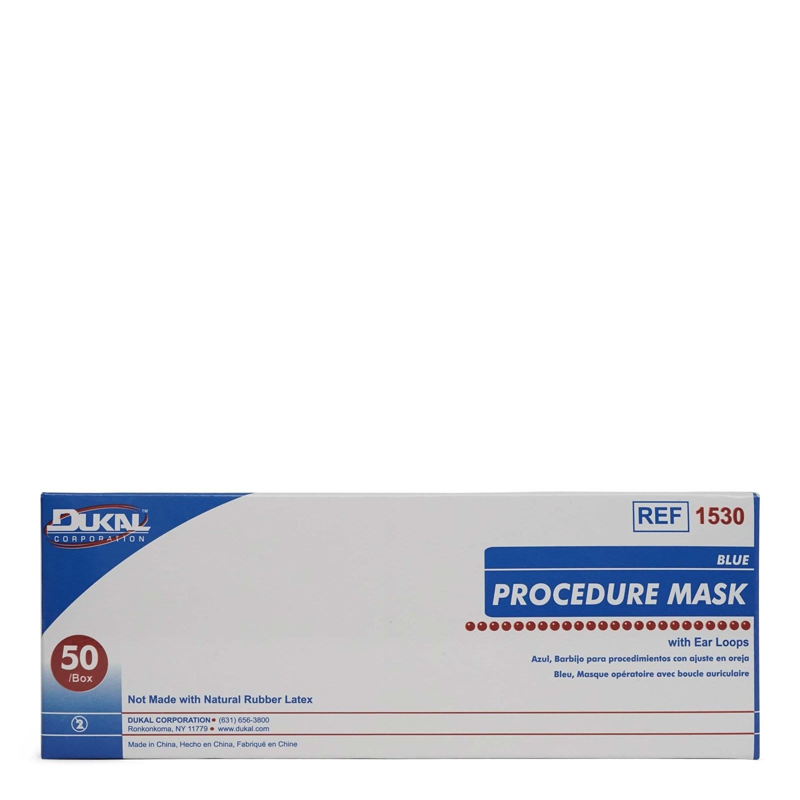 Dukal Procedure Mask with Soft and Flexible Loops BFE - (50/box)