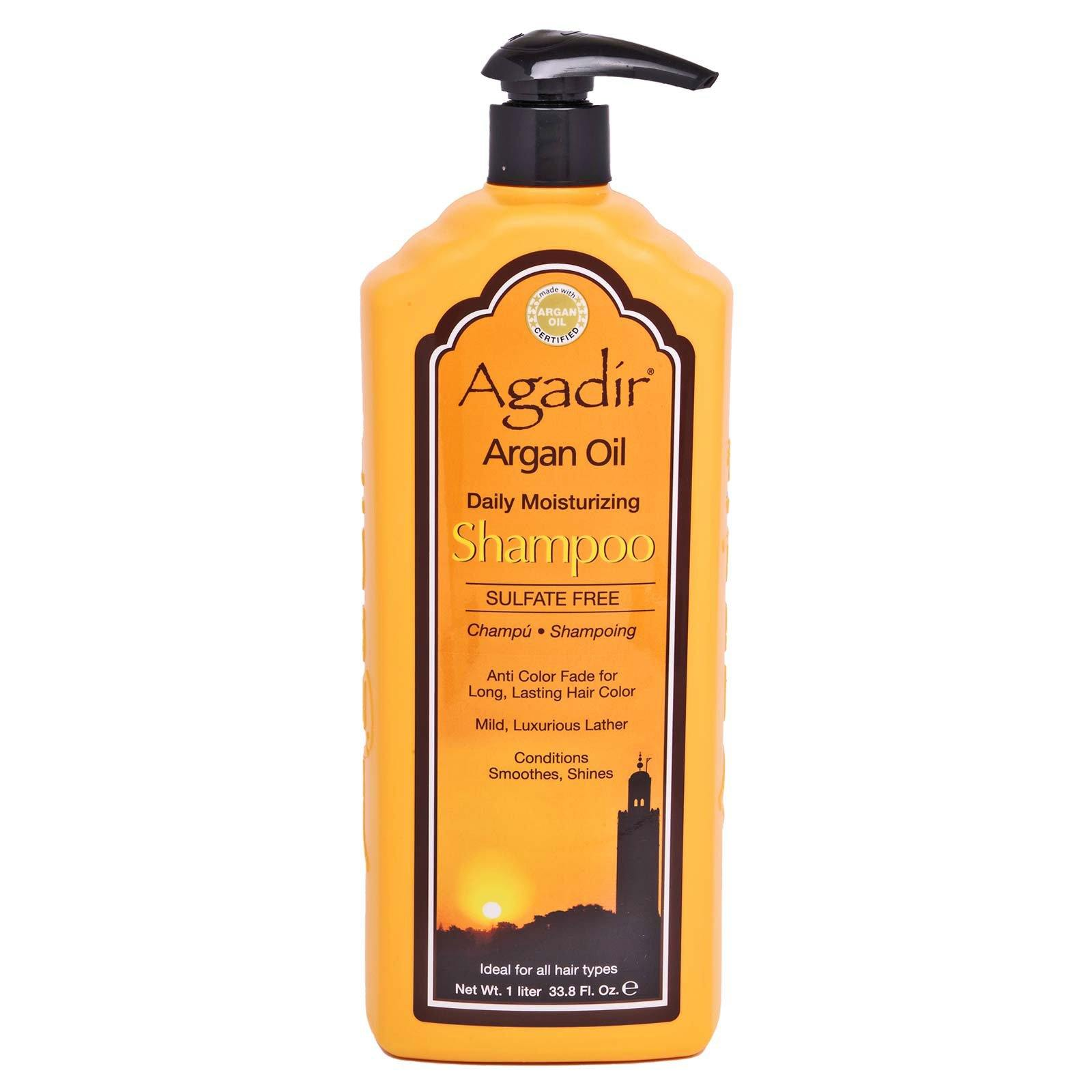 Agadir Argan Oil Daily Moisturizing Shampoo, sulfate free, gentle on color treated hair - (33.8oz) (12/cs)