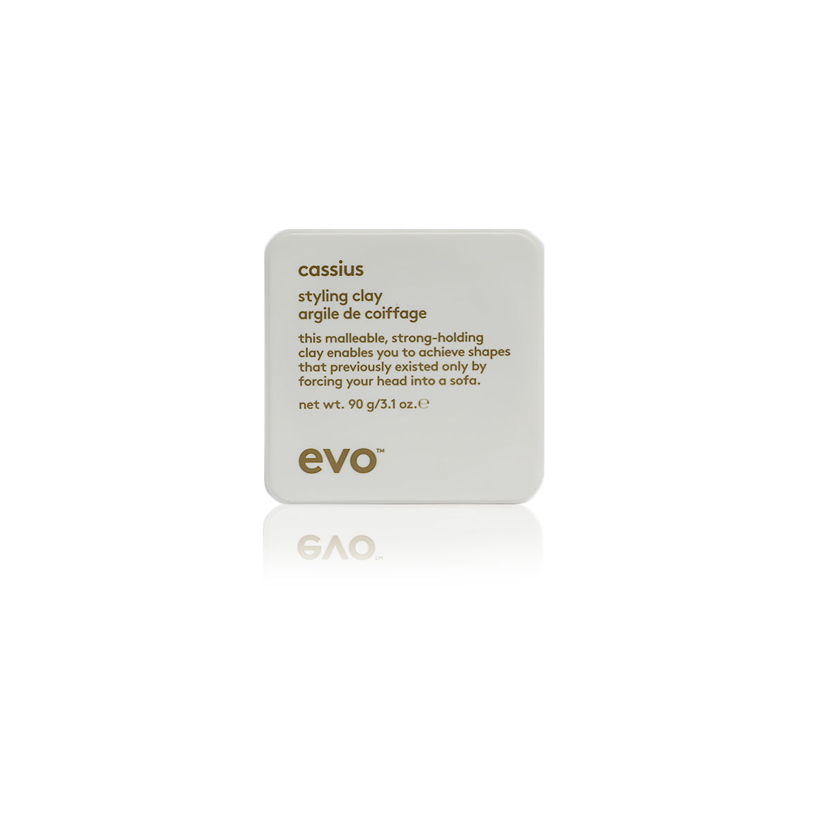 Evo cassius styling clay, for thick coarse hair,creates flexible hold 90g /3 .1oz - Case of 3 bottles (New)
