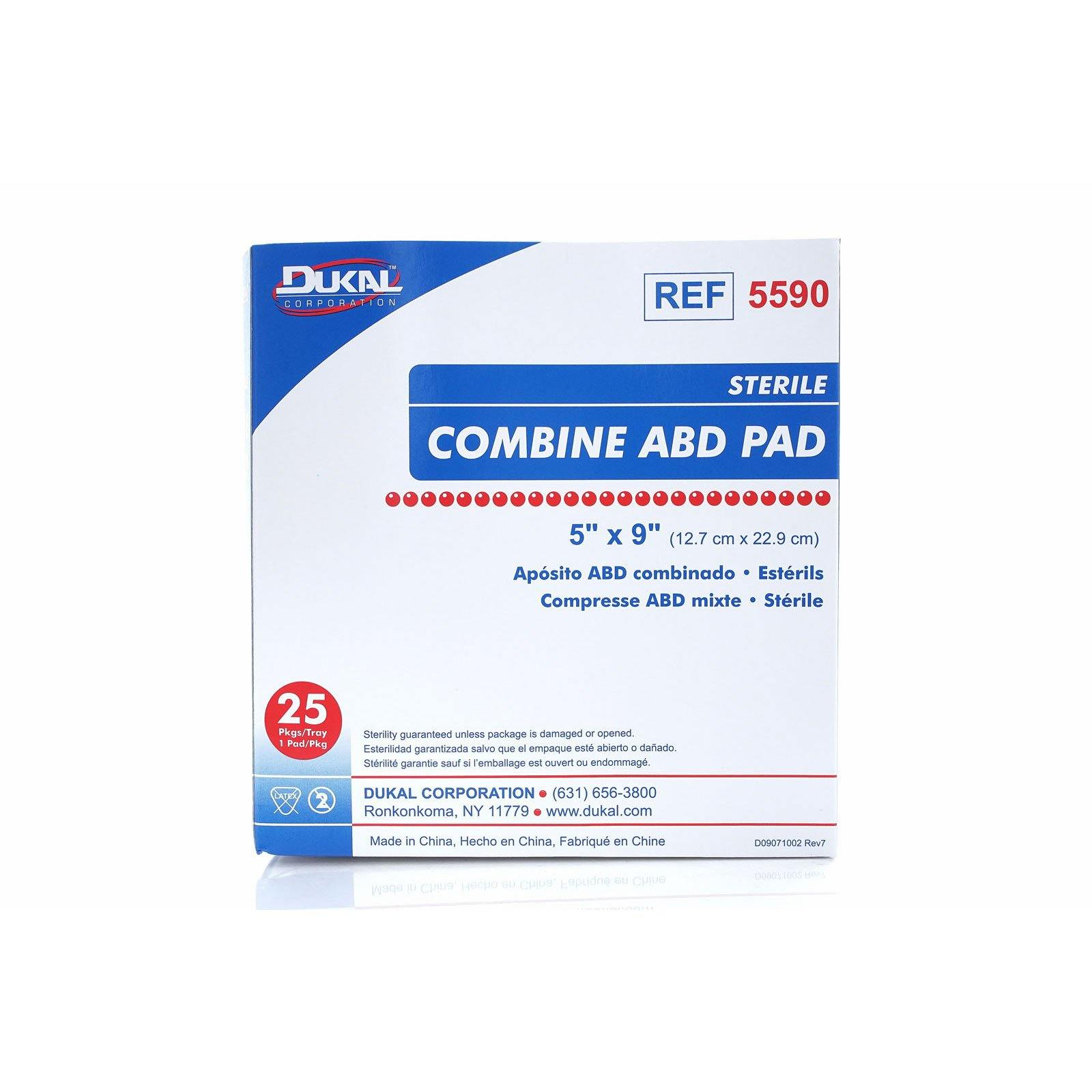 Dukal Corporation Sterile Combine ABD Pad, 5'' x 9'' (5590) (16/cs)