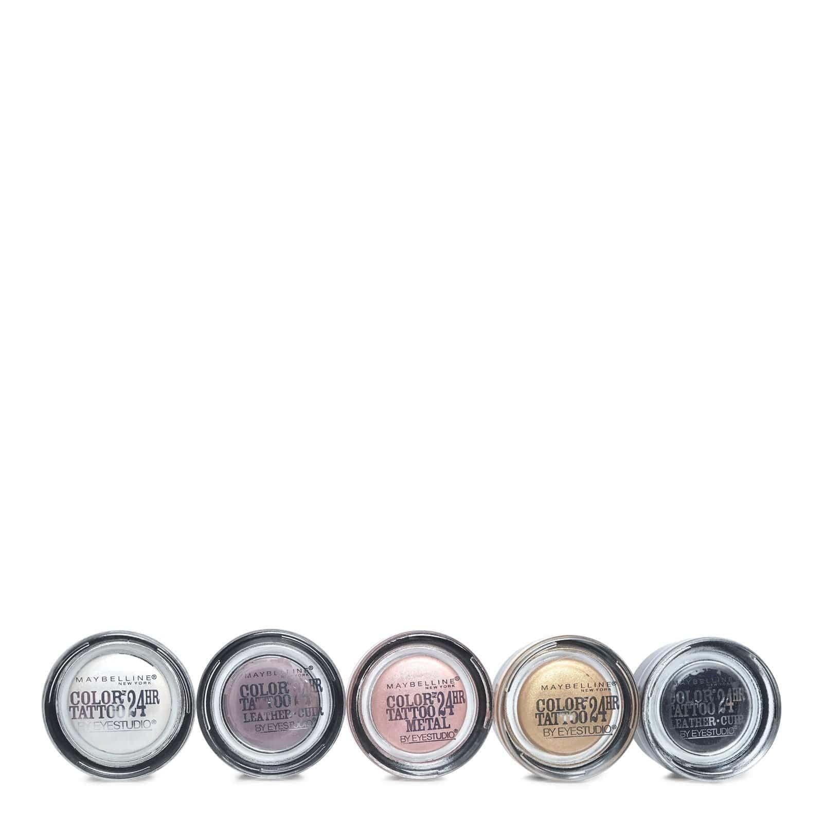 Maybelline Eyestudio Color Tattoo Assortment -  Shimmery, metallic colors.  (24/cs)