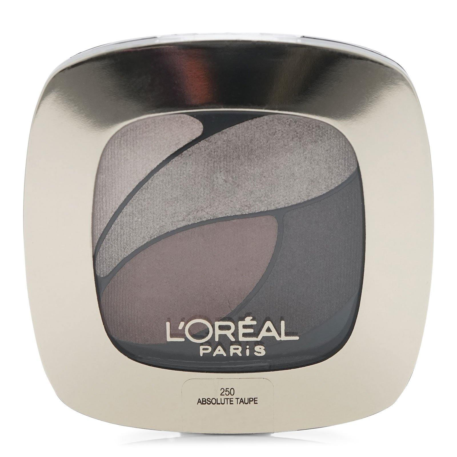 LOREAL DUAL EFFECTS EYESHADOW QUAD- ABSOLUTE TAUPE (12/cs)