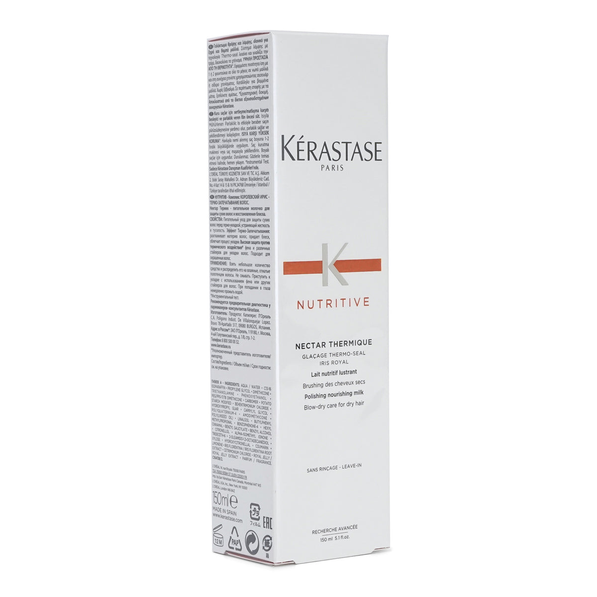 Kerastase Nutritive Nectar Thermique, leave-in thermal protectant for dry hair (5.1 oz/150ml) (3/cs)