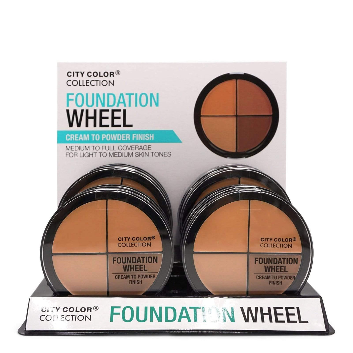City Color Foundation Wheel, Light to Medium Tones, F-0059 (12/cs)