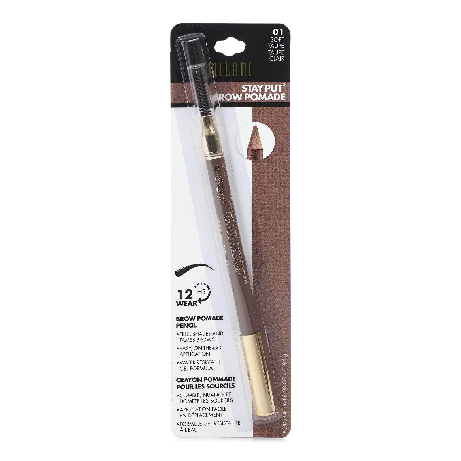 MILANI STAY PUT BROW POMADE PENCIL - SOFT TAUPE (24/cs)