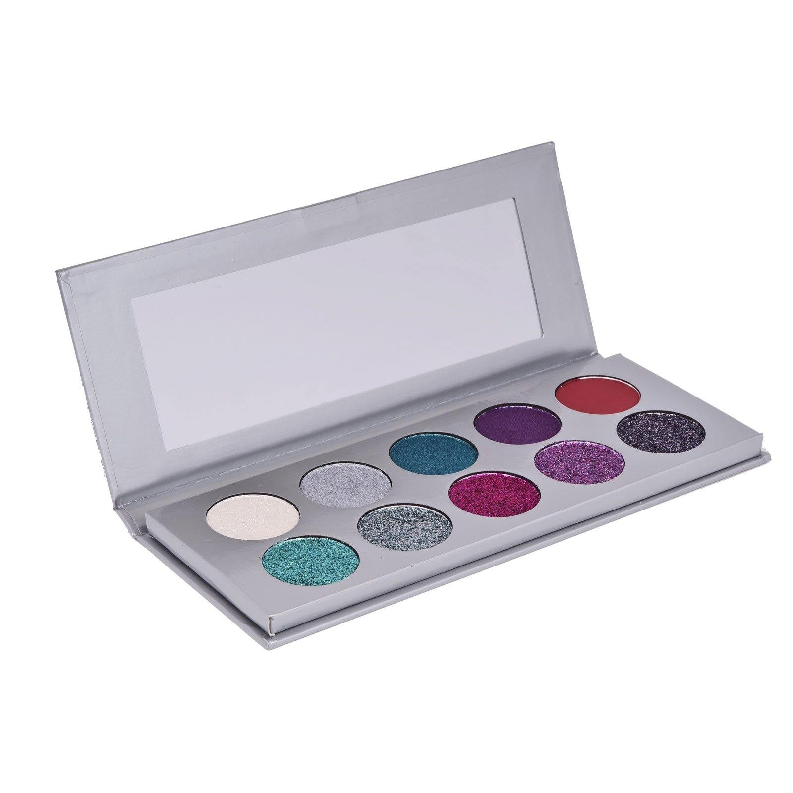 Trend Beauty, Tb10gb , Silver Eyeshadow - Features glitters, shimmers and mattes to create sparkle perfect looks (12/cs)