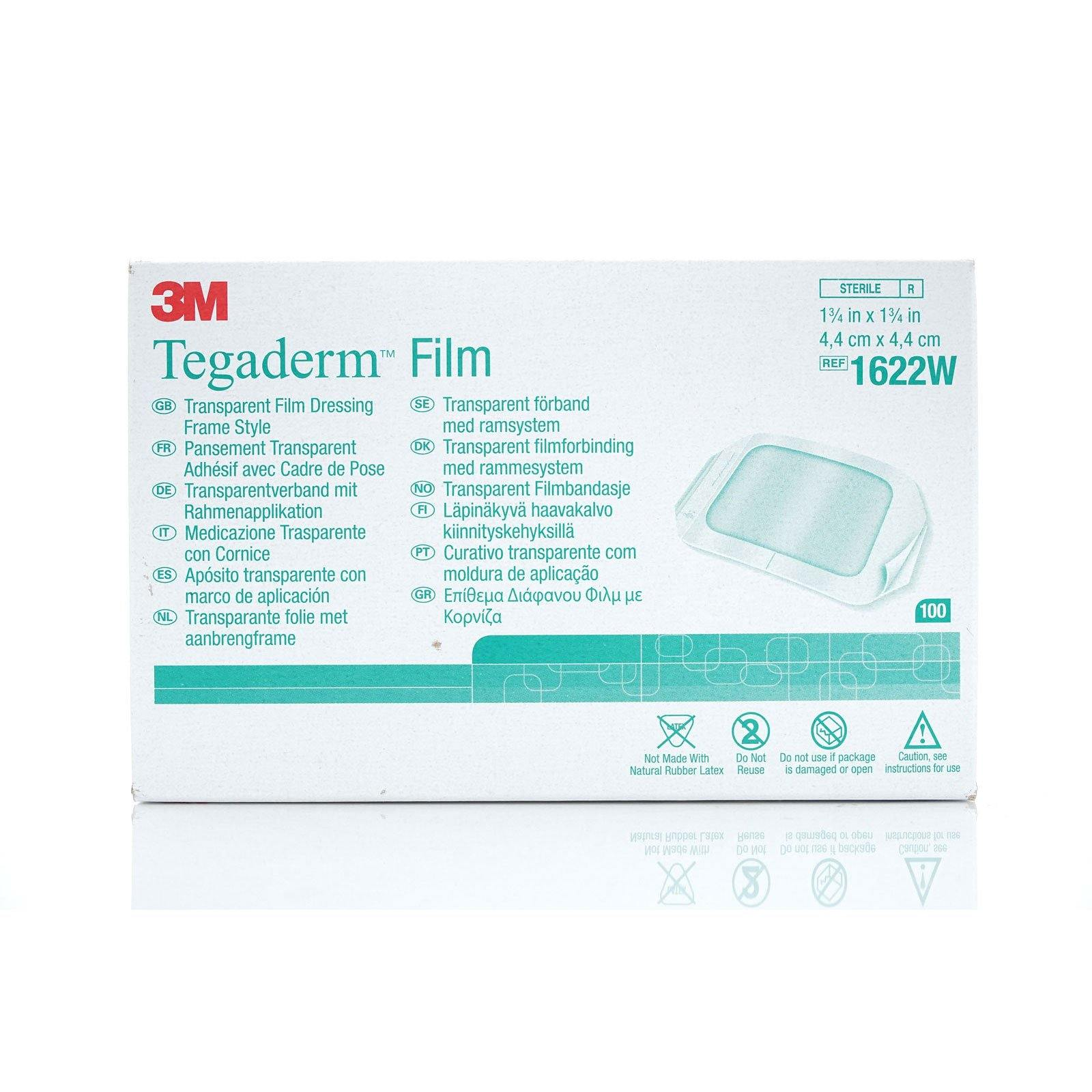 3M Tegaderm Transparent Film Dressing Frame Style, 1-3/4'' x 1-3/4 '' (4/cs)