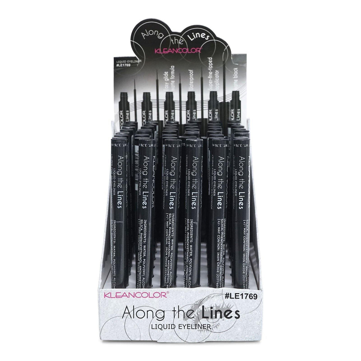 KLEANCOLOR Along the Lines Liquid Eyeliner-MATTE BLACK (LE1769) (48/cs)