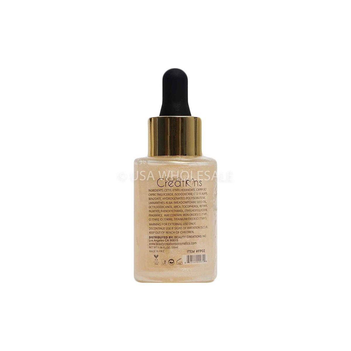 BEAUTY CREATIONS | Glow Primer Oil, Non-greasy (Case of 12)