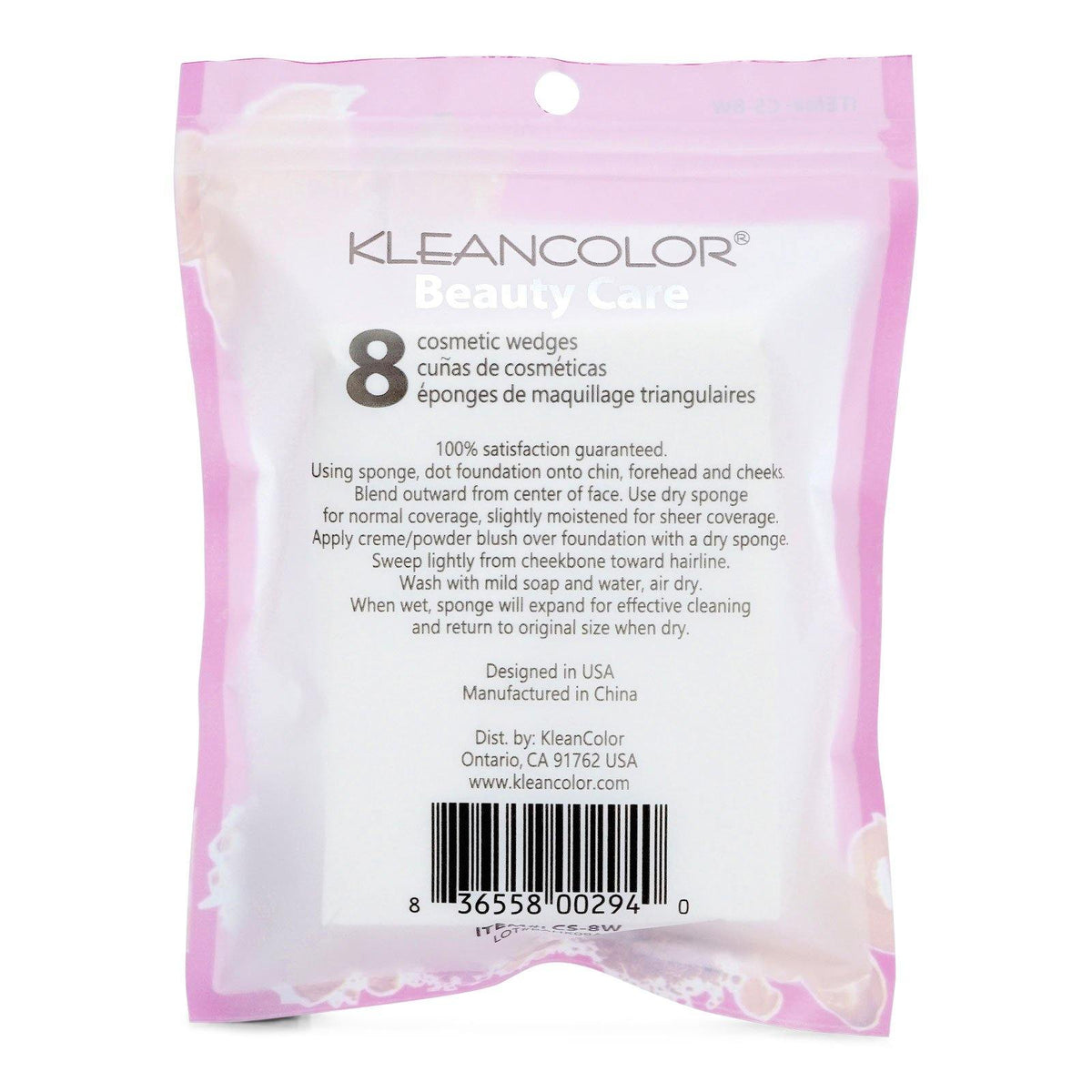 KLEANCOLOR Cosmetic Wedges (CS-8W) (12/cs)