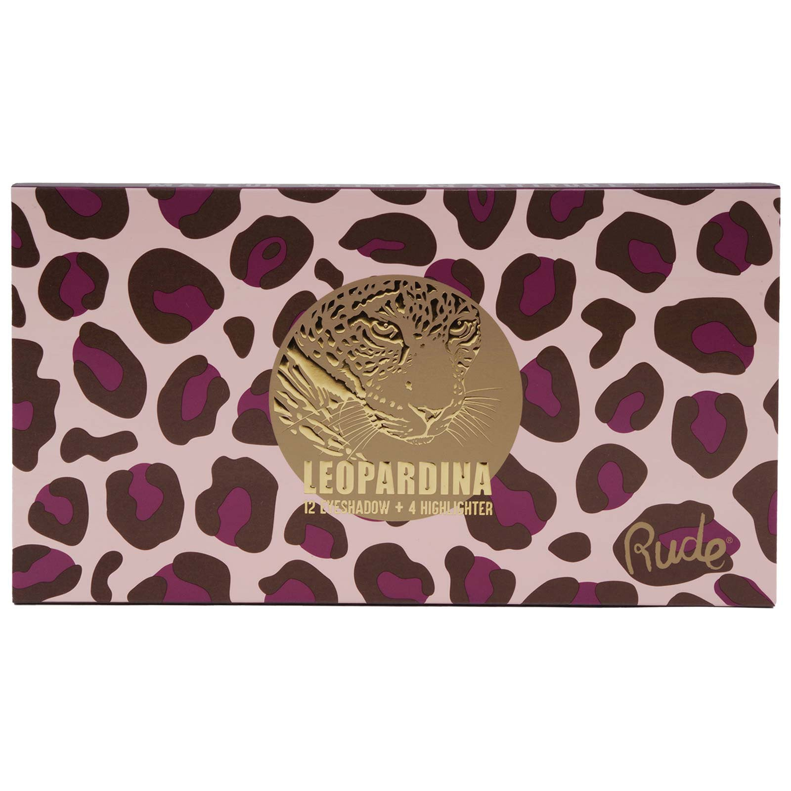 RUDE COSMETICS | Leopardina Face Palette w/ 4 Highlighters & 12 Eyeshadows (12/cs)