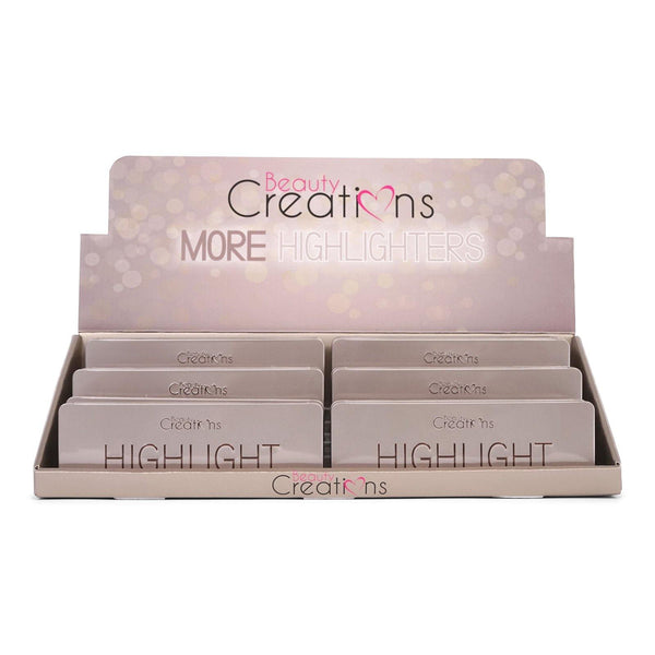 BEAUTY CREATIONS | Highlighter Palette w/ 5 Shades (Case of 12)