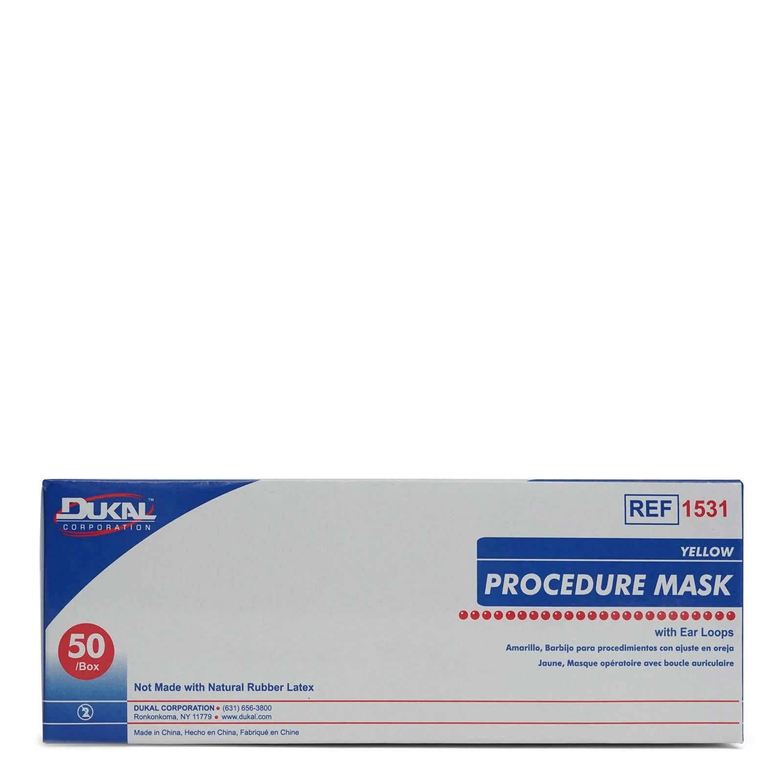 Dukal Procedure Mask with Soft and Flexible Nosepiece BFE - (50/box)