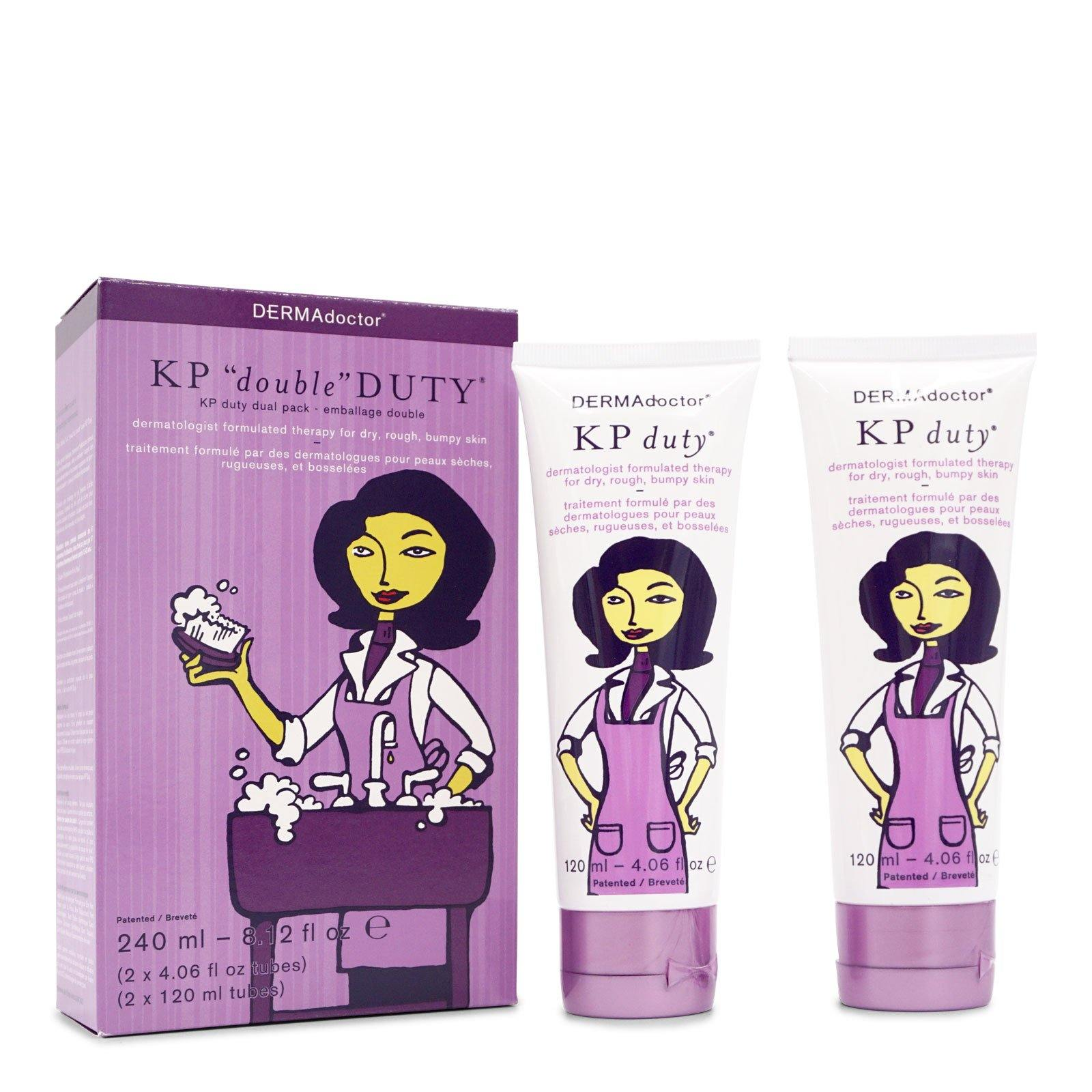 DermaDoctor KP ''Double'' Duty Dual Pack (2 KP Duty AHA Moisturizing Therapy For Dry Skin) - (240ml/8.12oz) (12/cs)