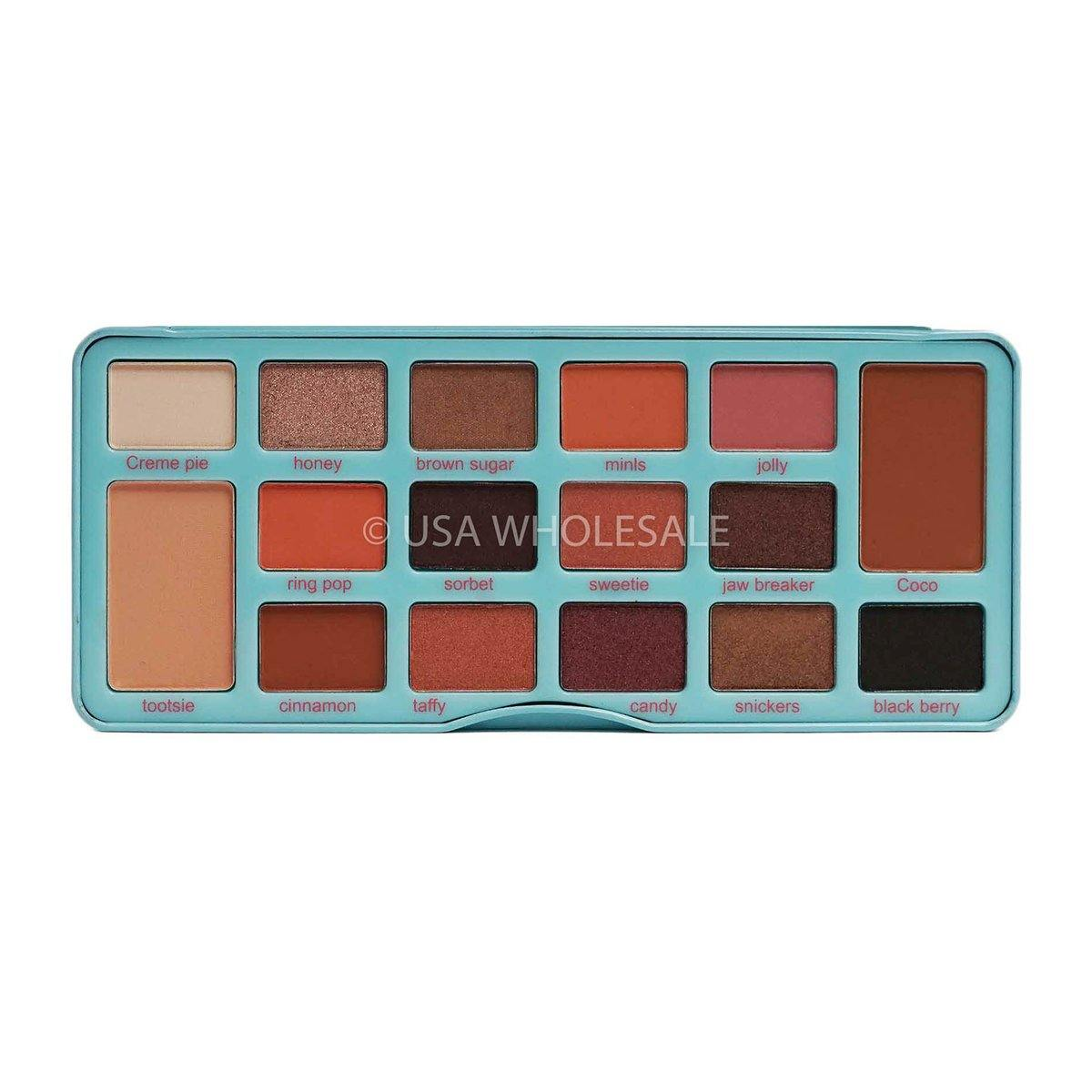 BEAUTY CREATIONS | Sugar Sweets 16 Color Eyeshadow Palette (Case of 6)