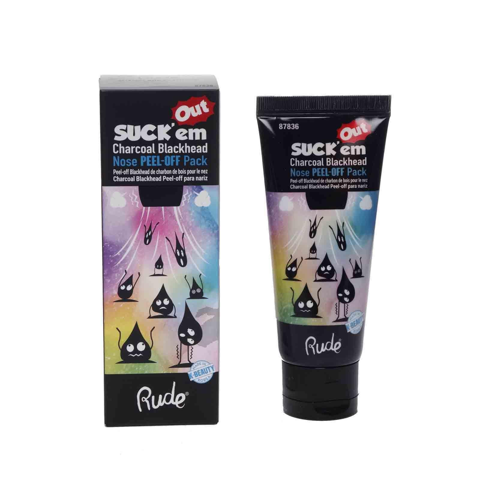 RUDE Cosmetics Suck Em Out Charcoal Blackhead Nose PeelOff Pad (12/cs)