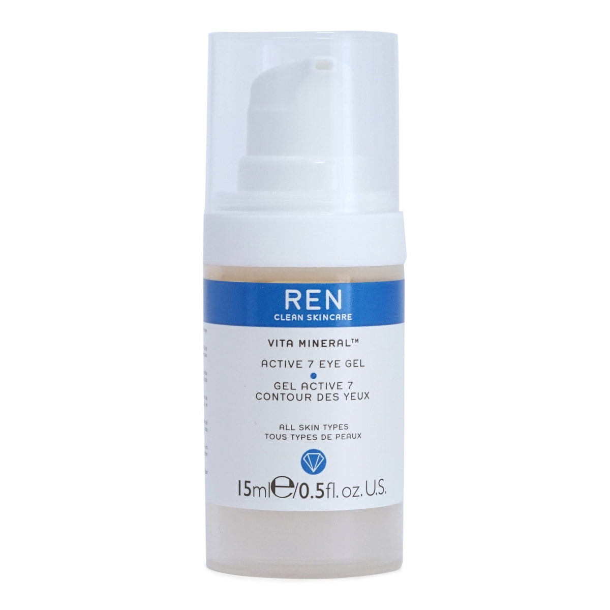 REN Skincare Vita Mineral Active 7 Eye Gel - lighweight cooling gel reduces puffiness and dar circles around the eyes  (15 ml / 0.5 fl. oz.) (3/cs)