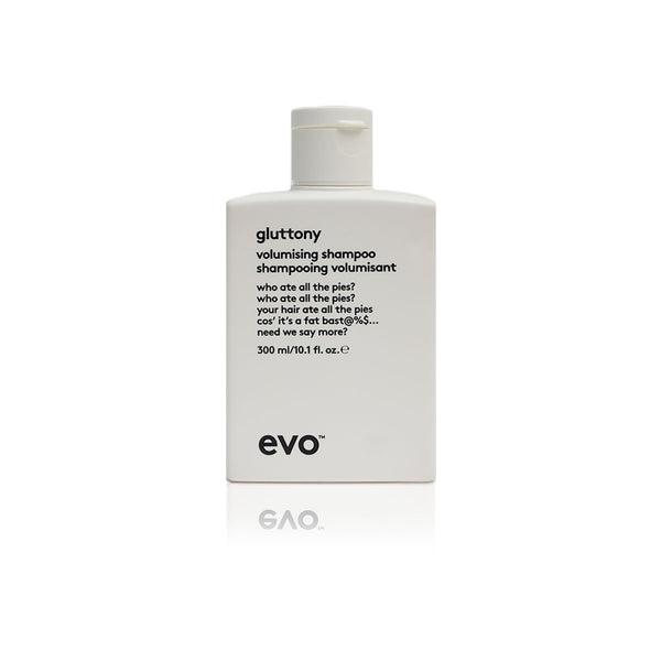 Evo gluttony volume shampoo, gives volume, best use for fine hair - Case of 3 bottles 300ml /10.1fl.oz - (New)