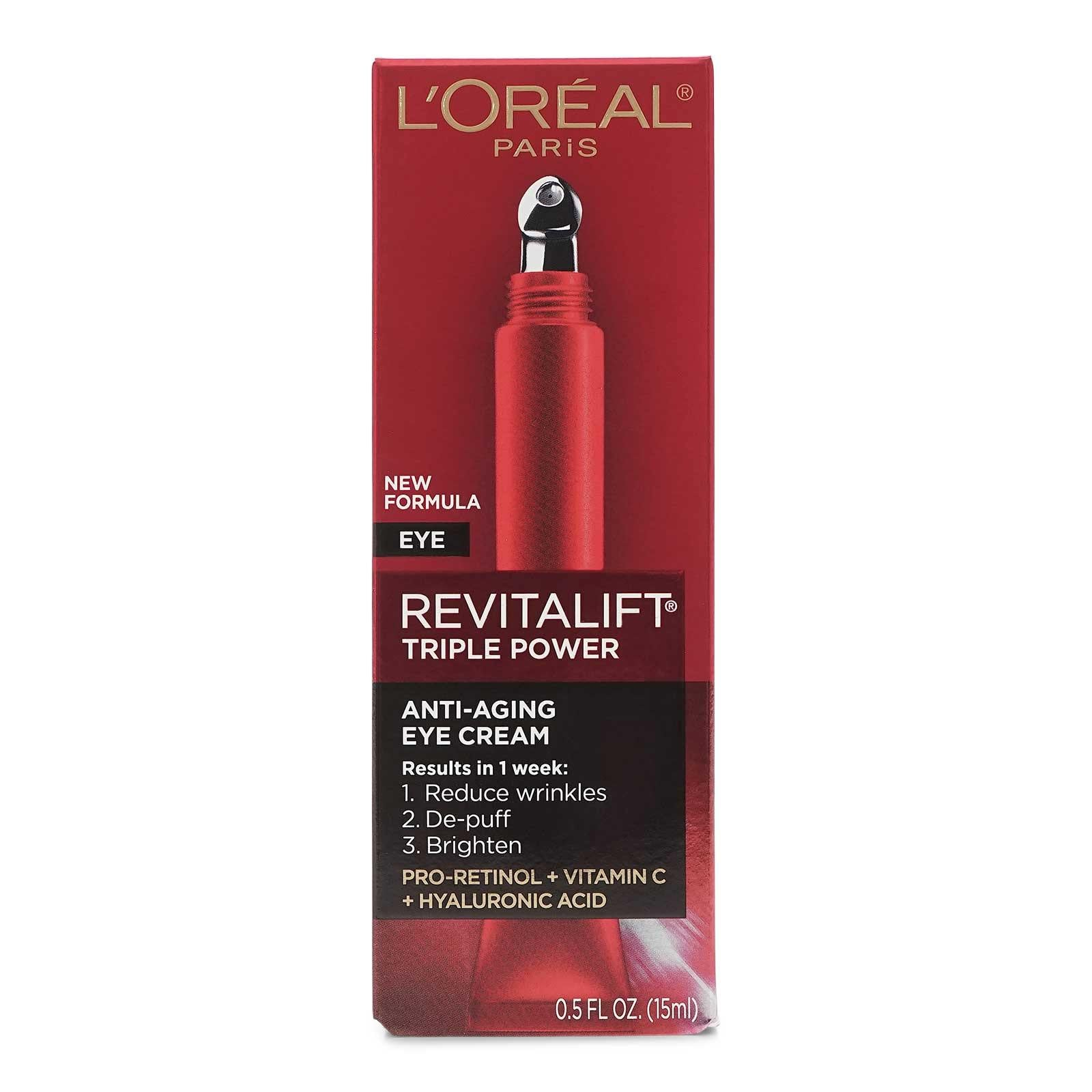 L'Oreal Paris Revitalift Triple Power Eye Treatment .5 Fl Oz (6/cs)