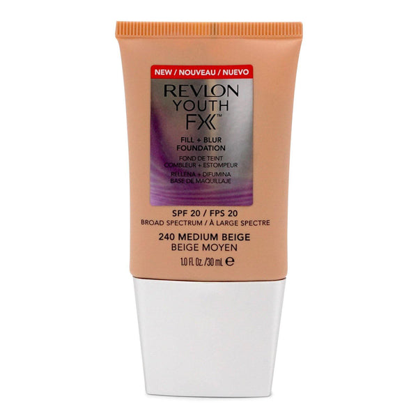 Revlon YOUTH FX FILL + BLUR SPF 20 FOUNDATION, Medium Beige (24/cs)
