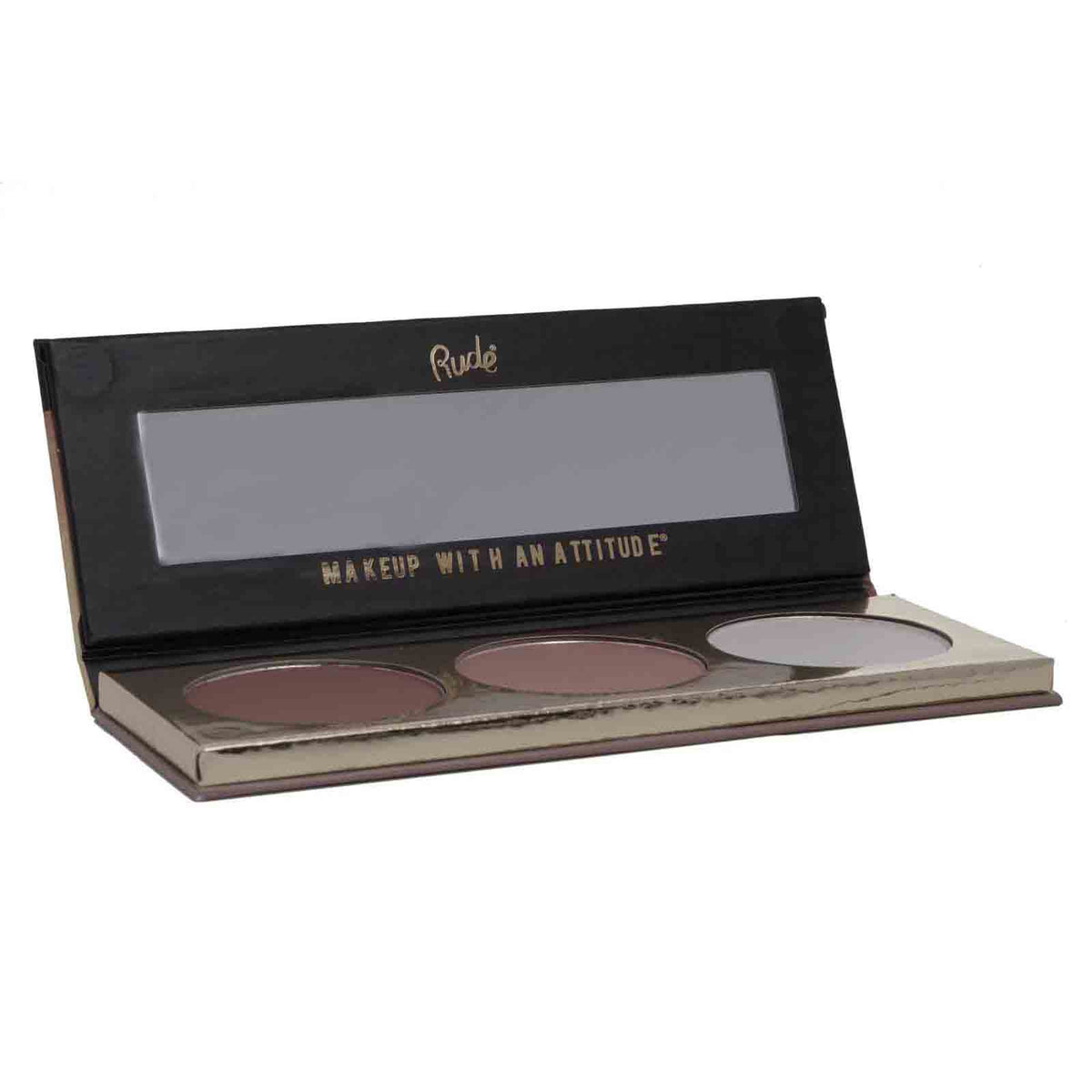 RUDE COSMETICS | Sculpting Trio Face Palette w/ Contour+Bronzer+Highlighter (12/cs)