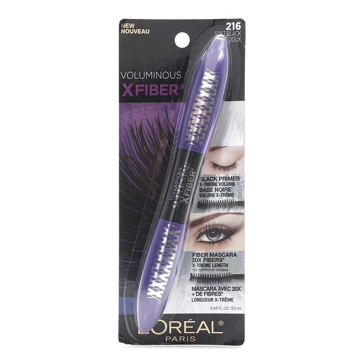 L'Oreal FIBER X MASCARA- SOFT BLACK (12/cs)