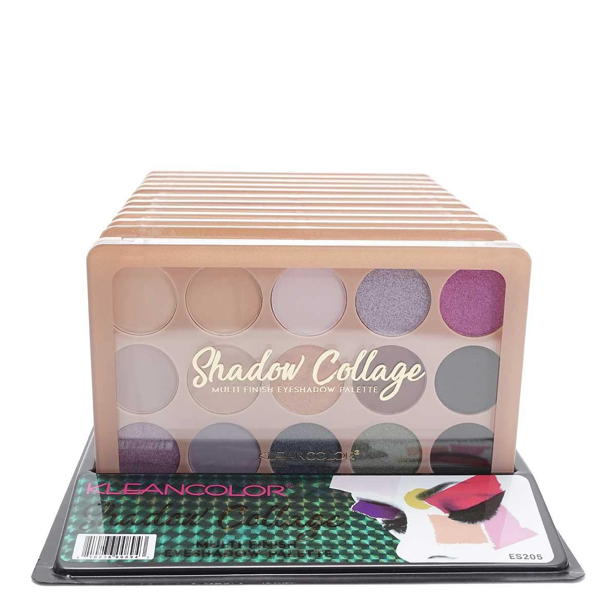 KLEANCOLOR SHADOW COLLAGE- 15 color palette - Display of 12 units