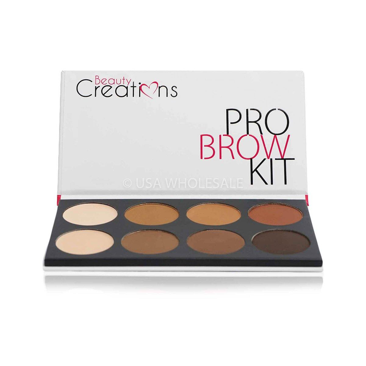 BEAUTY CREATIONS | Pro Brow Kit WaX Case of & Setting Powder (8 Colors X Case of 12)