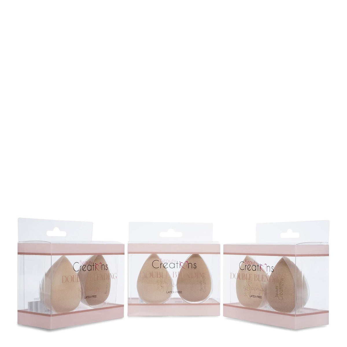 Beauty Creations Double Blending Sponge- Nude (SD03) (12/cs)