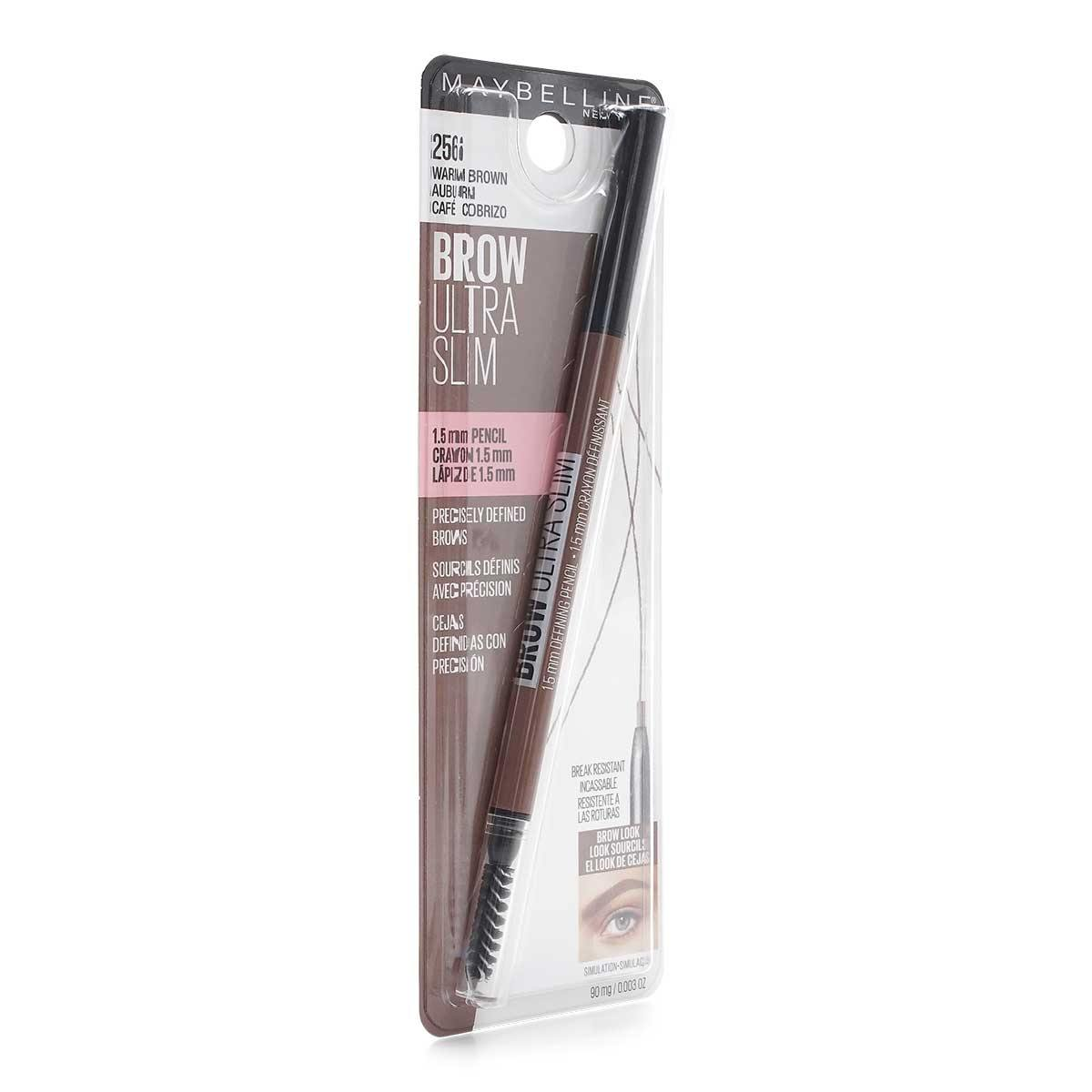 MAYBELLINE BROW ULTRA SLIM LINER - WARM BROWN (24/cs)